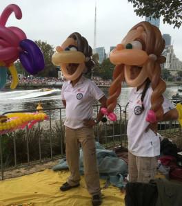 Moomba birdman rally balloon heads